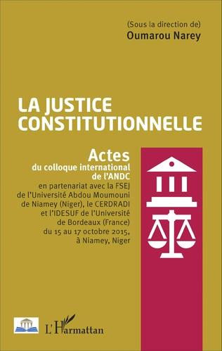 Couverture La justice constitutionnelle
