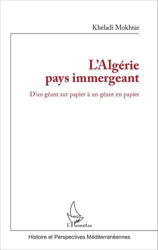 Couverture L'Algérie pays immergeant