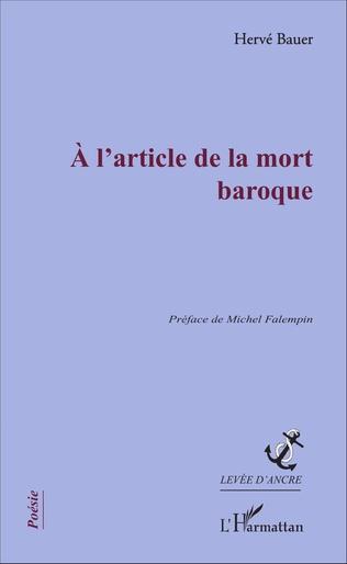 Couverture A l'article de la mort baroque