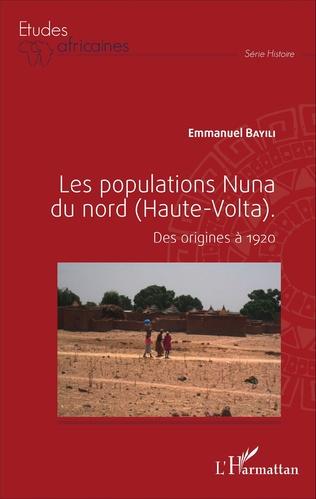 Couverture Les populations Nuna du nord (Haute-Volta)