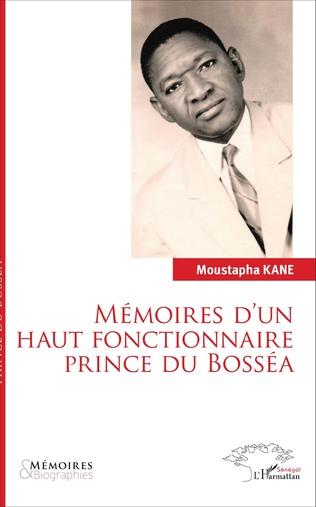 Couverture Mémoires d'un haut fonctionnaire Prince de Bosséa