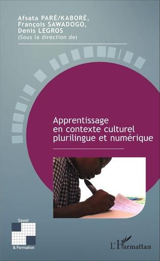 Couverture Apprentissage en contexte culturel plurilingue et numérique