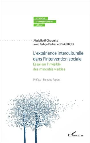 Couverture L'expérience interculturelle dans l'intervention sociale