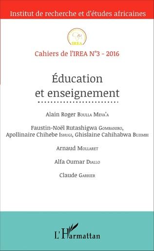 Couverture Education et enseignement