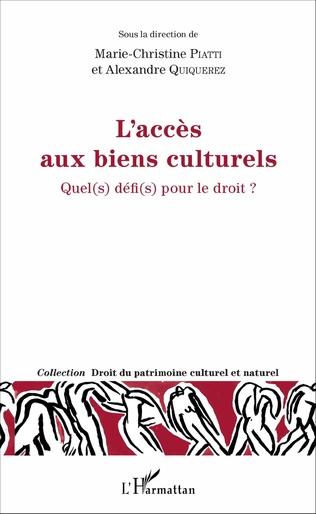 Couverture L'accès aux biens culturels
