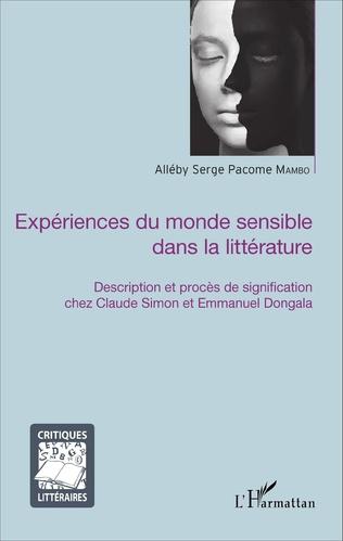 Couverture Expériences du monde sensible dans la littérature