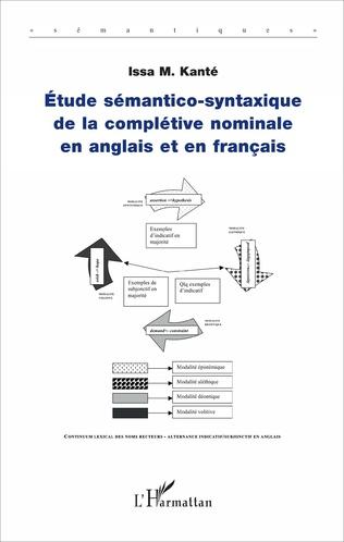 Couverture Etude sémantico-syntaxique de la complétive nominale en anglais et en français