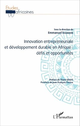 Couverture Innovation entrepreneuriale et développement durable en Afrique : défis et opportunités