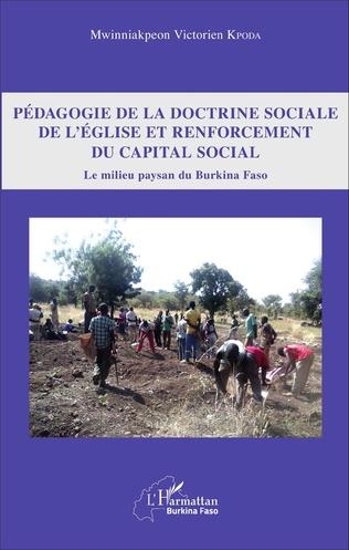 Couverture Pédagogie de la doctrine sociale de l'église et renforcement du capital social