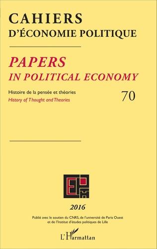 Couverture Cahiers d'économie politique 70