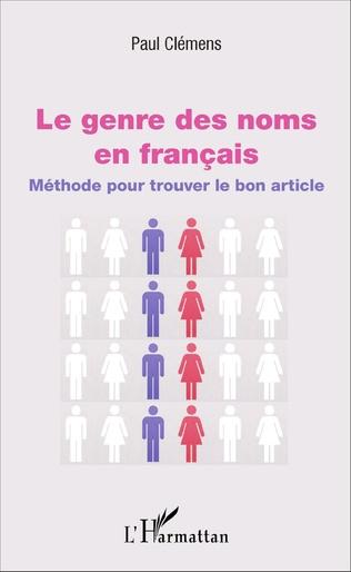 Couverture Le genre des noms en français