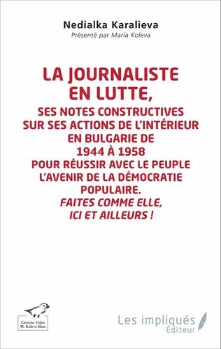 Couverture La journaliste en lutte