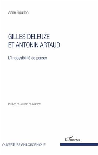 Couverture Gilles Deleuze et Antonin Artaud