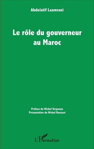 Couverture Le rôle du gouverneur au Maroc