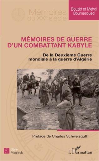 Couverture Mémoires de guerre d'un combattant kabyle