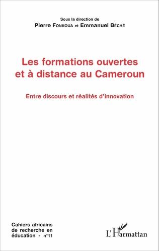 Couverture Les formations ouvertes et à distance au Cameroun