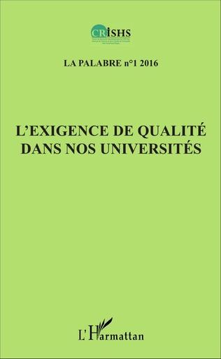 Couverture L'exigence de qualité dans nos universités