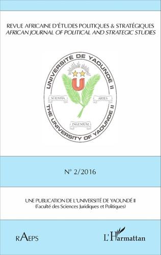 Couverture Revu africaine n°2 / 2016 d'études politiques & stratégiques