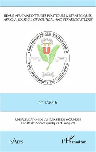 Couverture Revue africaine n° 1 / 2016 d'études politiques & stratégiques