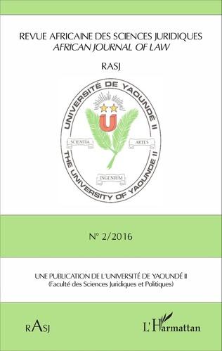 Couverture Revue africaine des sciences juridiques n°2 / 2016