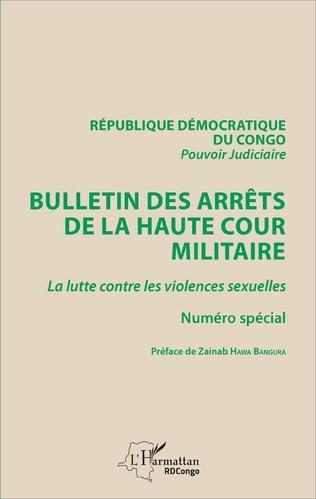 Couverture Bulletin des arrêts de la haute cour militaire