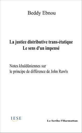 Couverture La  justice distributive trans-étatique