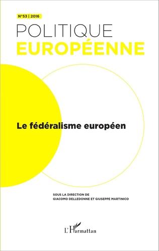 Couverture Le fédéralisme européen