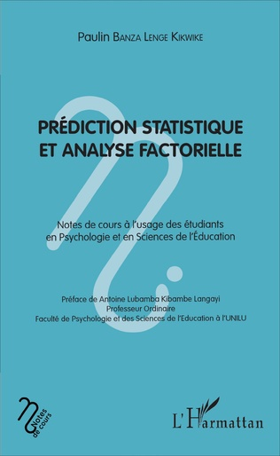 Couverture Prédiction statistique et analyse factorielle