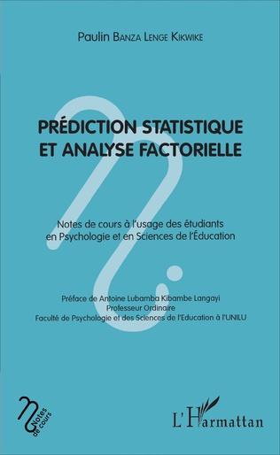 Couverture Prédiction statistique et analyse factorielle