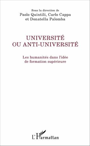 Couverture Université ou anti-université