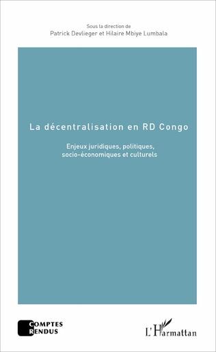 Couverture La décentralisation en RD Congo