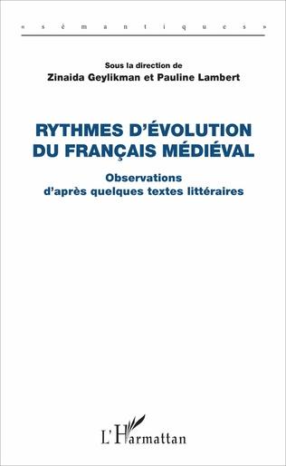Couverture Rythmes d'évolution du français médiéval