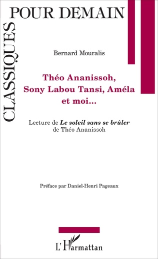 Couverture Théo Ananissoh, Sony Labou Tansi, Améla et moi...