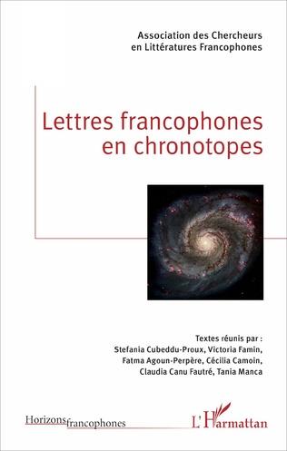Couverture Lettres francophones en chronotopes