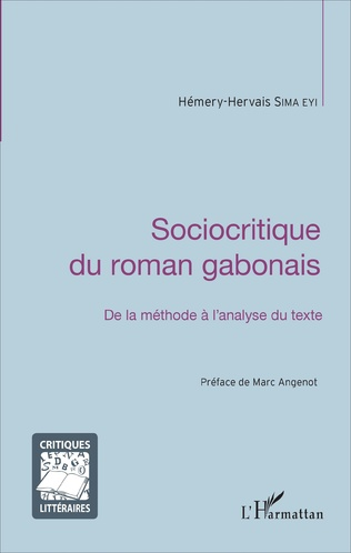 Couverture Sociocritique du roman gabonais