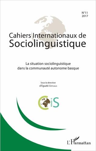 Couverture La situation sociolinguistique dans la communauté autonome basque