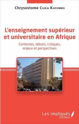 Couverture L'enseignement supérieur et universitaire en Afrique