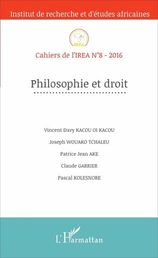 Couverture Philosophie et droit