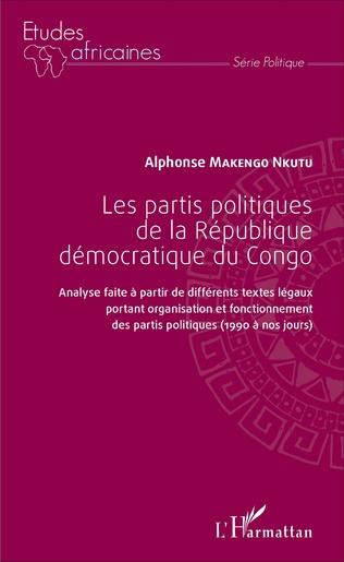 Couverture Les partis politiques de la République démocratique du Congo