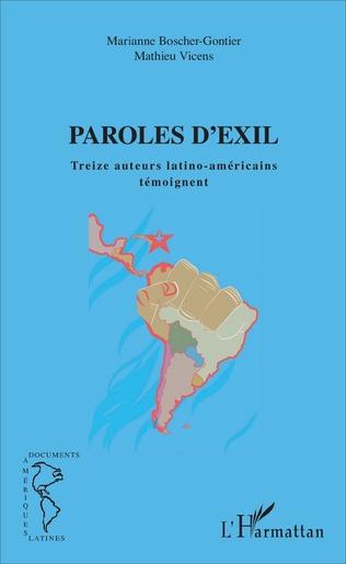 Couverture Paroles d'exil