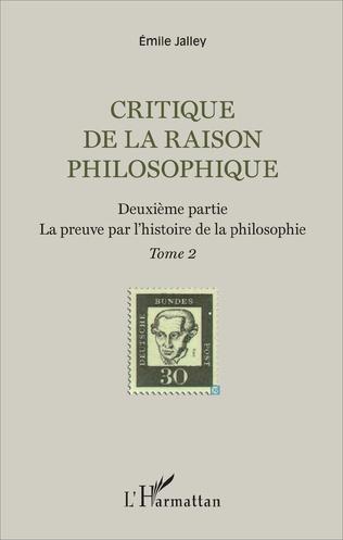 Couverture Critique de la raison philosophique