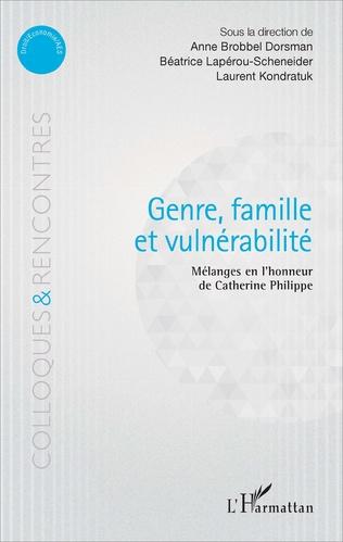 Couverture Genre, famille et vulnérabilité