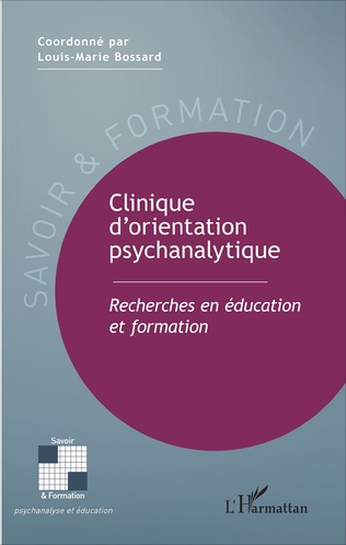 Couverture Clinique d'orientation psychanalytique
