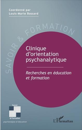 Couverture Clinique d'orientation psychanalytique