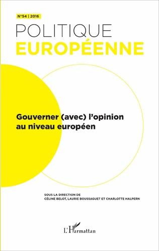 Couverture Gouverner (avec) l'opinion au niveau européen