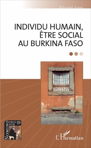 Couverture Individu humain, être social au Burkina Faso