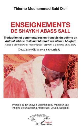 Couverture Enseignements de Shaykh Abass Sall