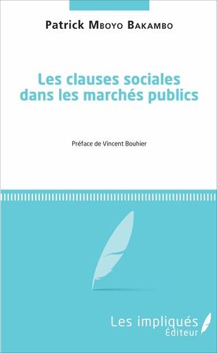 Couverture Les clauses sociales dans les marchés publics