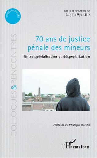 Couverture 70 ans de justice pénale des mineurs