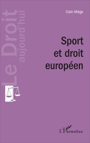 Couverture Sport et droit européen